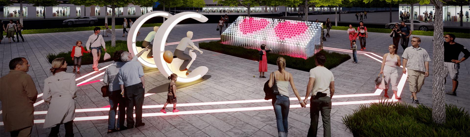 网红互动产品-网红互动装置-网红互动景观-城基生态智慧公园