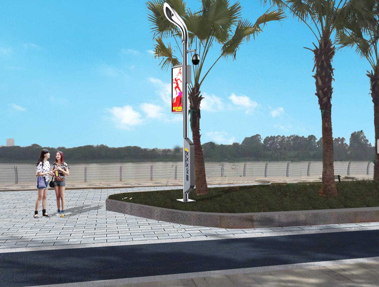 智慧路灯-智慧灯杆-智慧多功能杆-城基生态智慧公园